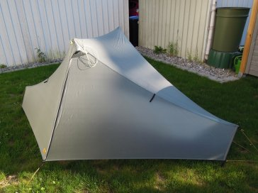 The Tarptent fully closed...
